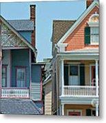 Gingerbread Beach Homes Pano - Ocean Grove Nj Metal Print by Anna Lisa Yoder