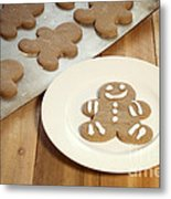 Gingerbread Cookies Metal Print by Juli Scalzi