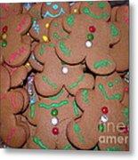 Gingerbread Cookies Metal Print