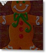 Gingerbread Greetings Metal Print