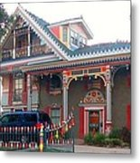 Gingerbread House - Metairie La Metal Print