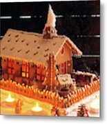 Gingerbread House, Traditional Metal Print