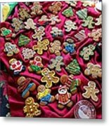 Gingerbread Men Metal Print