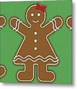 Gingerbread People Metal Print