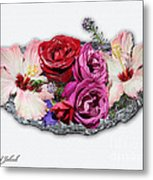 Ginnies Summer Flower Arrangement Metal Print