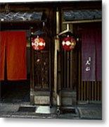 Gion Geisha District Doorways Metal Print
