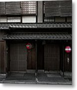 Gion Geisha District Of Kyoto Japan Metal Print