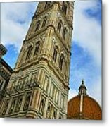 Giotto Campanile Tower In Florence Italy Metal Print