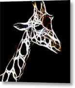 Giraffe Art Metal Print