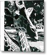 Giraffe Closeup Metal Print