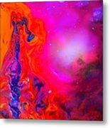 Giraffe In The Universe - Abstract Painting Metal Print