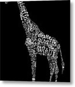 Giraffe Is The Word Metal Print