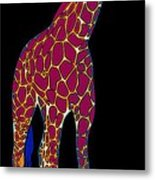 Giraffe Pop Art Metal Print