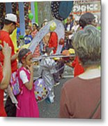 Girl At Carnival Social Occasion Celebrations Metal Print