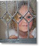 Girl At The Window Metal Print