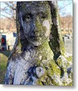 Girl In Green Metal Print