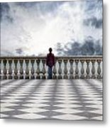 Girl On A Terrace Metal Print by Joana Kruse