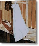 Girl On Dock Metal Print
