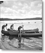 Girl Scout Canoe Test Metal Print