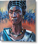 Girl South Sudan Metal Print