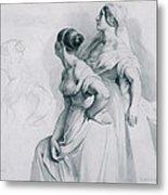 Girl Studies  1839 Metal Print
