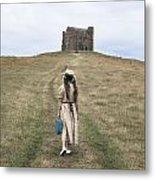 Girl Walks To A Chapel Metal Print