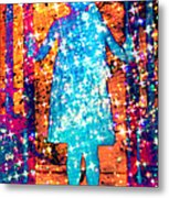 Girl With A Ponytail Metal Print