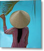Girl With Conical Hat, Nha Trang Metal Print