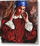 Girl With The Poor Hearing Metal Print