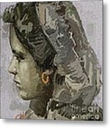 Girl With Yellow Earring Gwye1 Metal Print