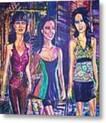 Girlfriends Metal Print by Linda Vaughon