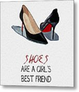 Girl's Best Friend Metal Print