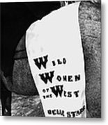 Girl's Demand Excitement Homage Helldorado Days Tombstone Arizona  1931-1980 Metal Print