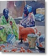 Girls Sellers Metal Print
