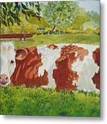 Give Me Moooore Shade Metal Print by Mary Ellen Mueller Legault