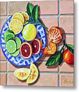 Give Us This Day Our Daily Fruit Metal Print