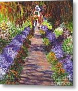 Giverny Gardens Pathway After Monet  Metal Print