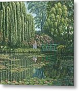 Giverny Reflections Metal Print