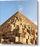 Giza Pyramid Detail Metal Print by Jane Rix