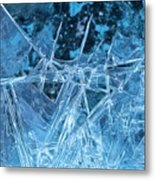 Glacial Ice Formations Metal Print