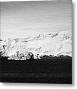 glacial shoreline with snow cap on anvers island and neumayer channel Antarctica Metal Print