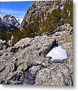Glacier Gorge Ahead Metal Print