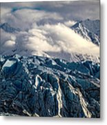Glacier In The Clouds Metal Print