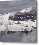 Victoria Glacier Mist - Lake Louise, Alberta Metal Print