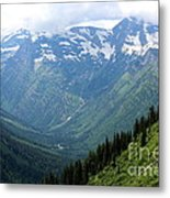 Glacier Mountain Metal Print