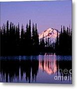 Glacier Peak Sunrise On Image Lake Metal Print