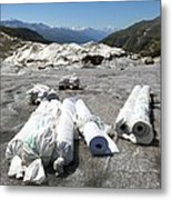 Glacier Protection Metal Print by Science Photo Library