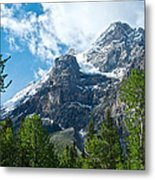Glacier Seen From Kicking Horse Campground In Yoho Np-bc Metal Print