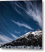 Glacier Sky Metal Print