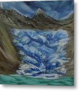 Glacier To Ocean Metal Print